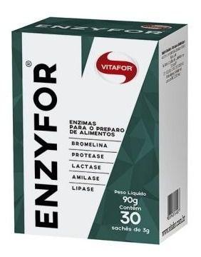 Enzyfor 30 Saches 3g Vitafor MELHOR ENZIMAS DIGESTIVAS