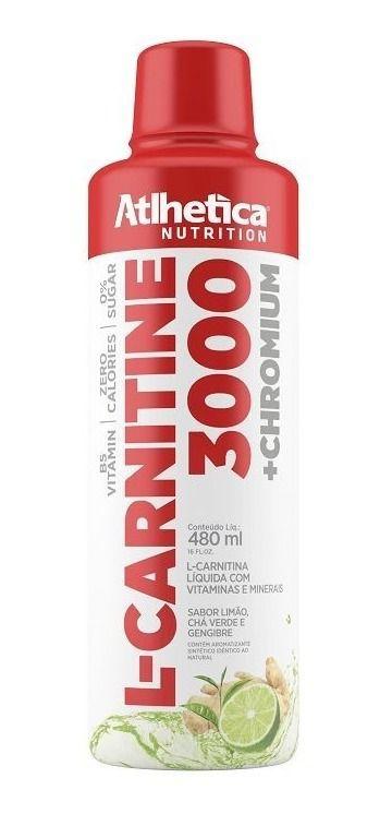 L Carnitina 3000 C/ Picolinato De Cromo 480ml - Atlhetica