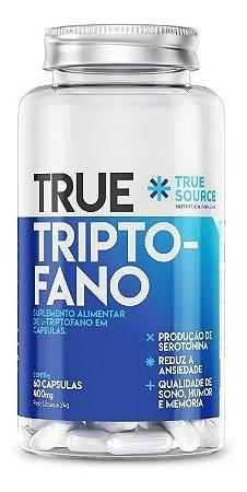 True Triptofano 400mg 60 Caps - True Source - Promoção Ansie