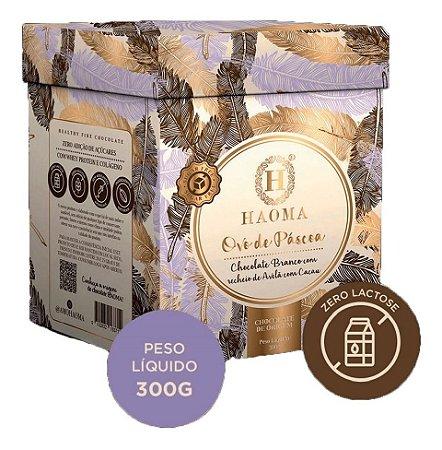 Ovo De Pascoa Haoma Chocolate Branco Zero Açucar Avelã Juju