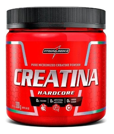 Creatina Integral Medica 300g Hardcore