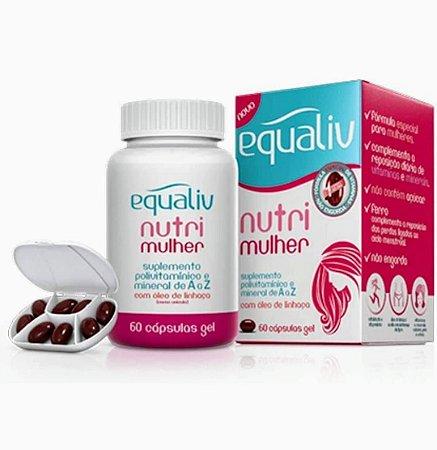 Equaliv Nutri Mulher Multivitaminico Oleo De Linhaça 60 Cáps