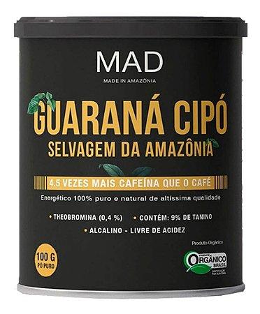 Guarana Cipó Mad Selvagem Da Amazônia Lata 100g Orgânico