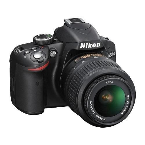 Câmera Digital DSLR Nikon D3200 24MP Lente Nikkor 18-55mm VR Preta