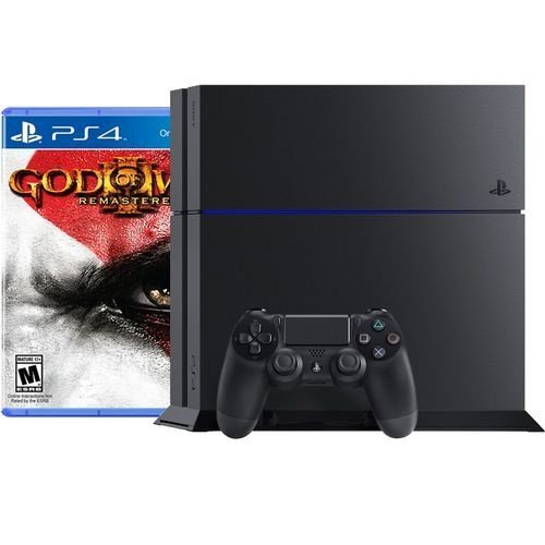Console Playstation 4 500GB + Controle Dualshock 4 + Jogo God Of War