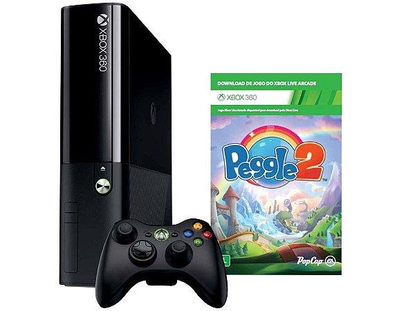 Console Xbox 360 4GB Microsoft + Jogo Peggle 2 + Controle sem Fio