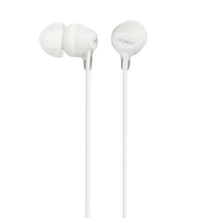 Headphone Intra-auricular MDR-EX15AP compatível com smartphone - Branco