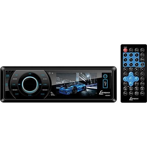DVD Player Automotivo Lenoxx AD 2603 Tela 3 - Rádio AM-FM, Entradas USB, SD, AUX e pcâmera de ré