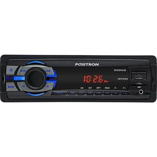 Som Automotivo Pósitron SP2210UB com MP3 Player FM com conexão USB e Leitor Micro SD-CARD