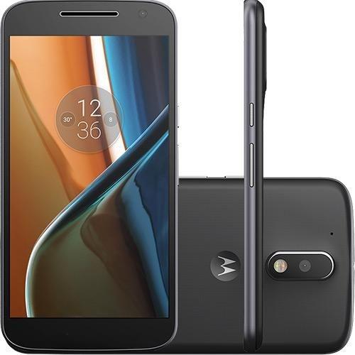 "Smartphone Motorola Moto G 4 Tela 5.5"" 16GB 4G Wi-Fi Câmera 13MP - Preto"