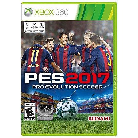 Jogo Pro Evolution Soccer 2017 (PES 17) - Xbox 360