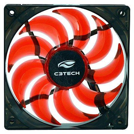 Cooler Fan C3 Tech Storm Series F9 12cm - Vermelho