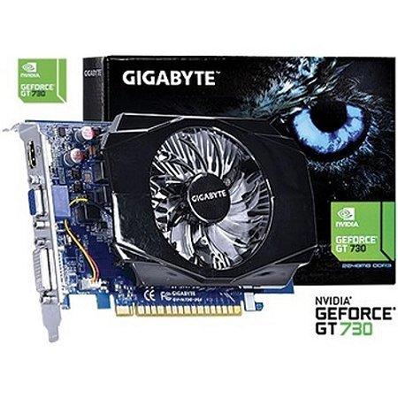 Placa De Video Nvidia Geforce Gt 730 2gb Ddr3 128 Bits - Gv-N730-2GI