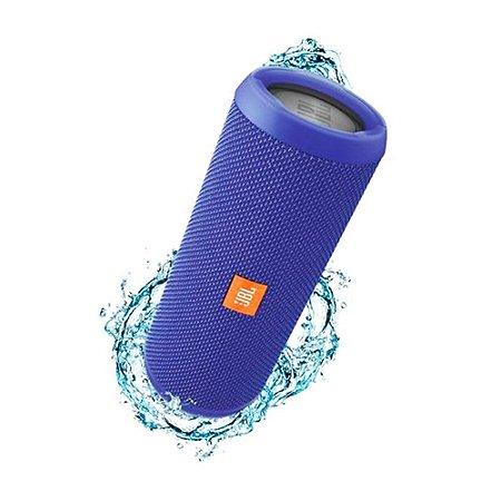 Caixa de Som Bluetooth JBL FLIP3 Azul 16W RMS Amplificada 2X8W