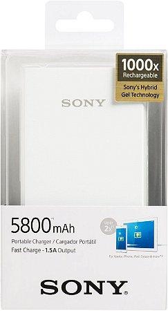 Carregador Sony 5800mah- Branco CP-E6