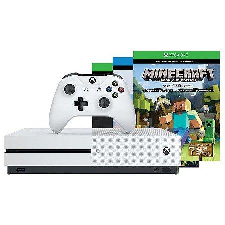 Console Xbox One S 500gb Bundle Minecraft