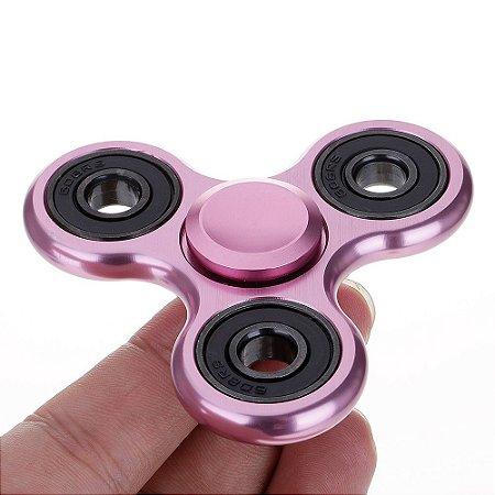Fidget Hand Spinner Toy Anti Stress e Ansiedade - Rosa Metalizado