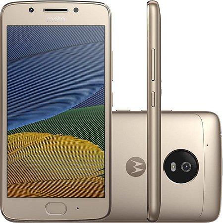 """Smartphone Moto G 5 Dual Chip Android 7.0 Tela 5"""" 32GB 4G Câmera 13MP - Ouro"""
