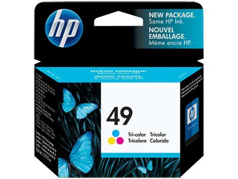 Cartucho de tinta HP 49 colorido - 51649A