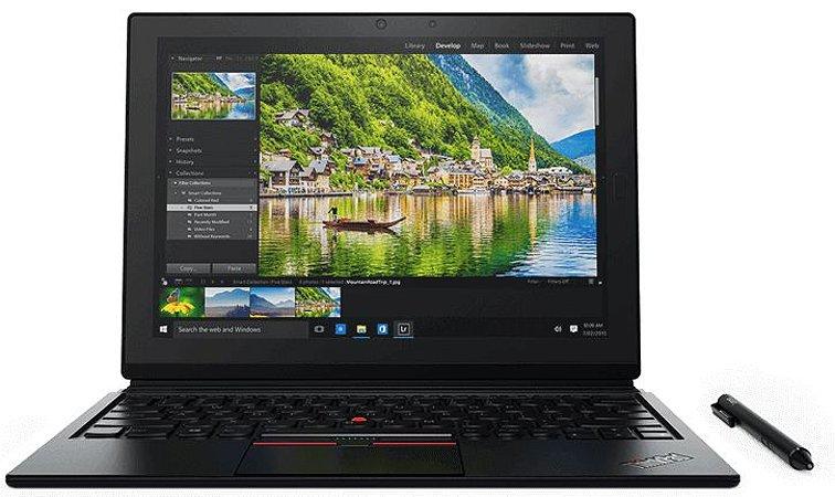 """Notebook 2 em 1 Lenovo Thinkpad X1, tela de 14"""", 8GB de Ram, 240GB de SSD, Intel M5"""