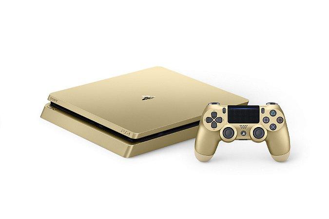 Console Sony Playstation 4 Slim Gold 1TB CUH - 2015B