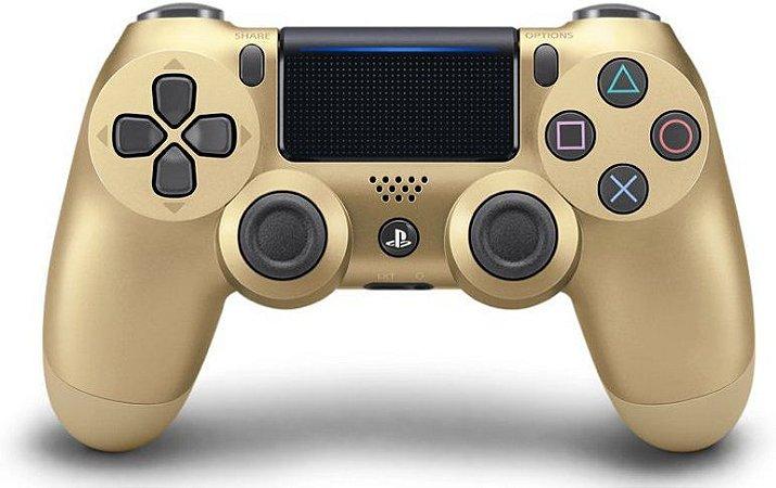 Controle Sony Playstation 4 Sem Fio Dualshock 4 Dourado