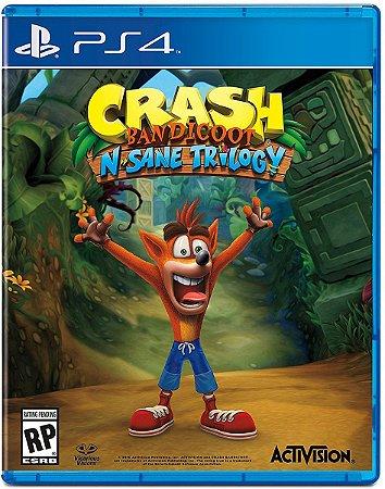 Jogo Crash Bandicoot N. Sane Trilogy - Remasterizado PS4