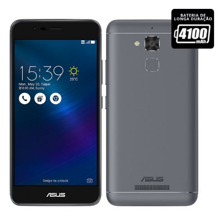 "Smartphone Asus Zenfone 3 Max Cinza 5,2"" - ZC520TL"