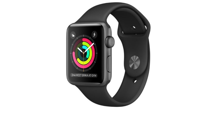 Apple Watch 42mm Space Gray Aluminum Sport Band Black - Serie 2