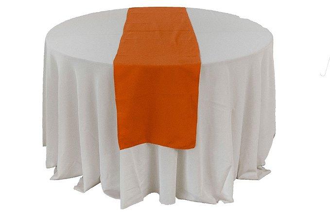 Caminho de mesa liso laranja