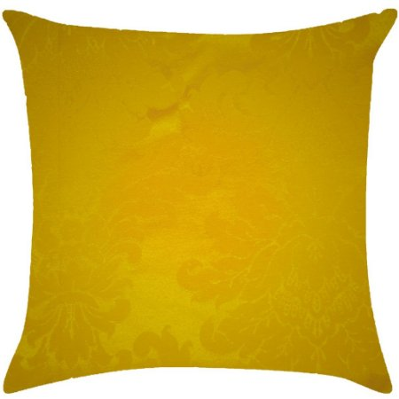 Almofada adamascada amarelo ouro