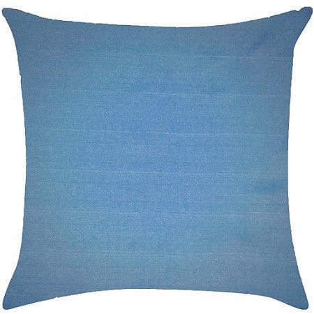 Almofada lisa azul hortência