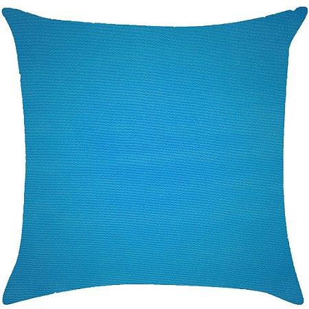 Almofada lisa azul turquesa