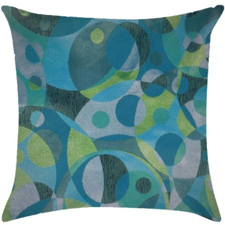 Almofada geométrica azul e verde