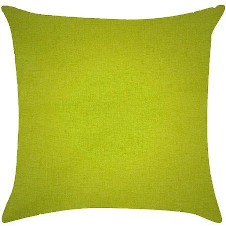Almofada lisa verde limão