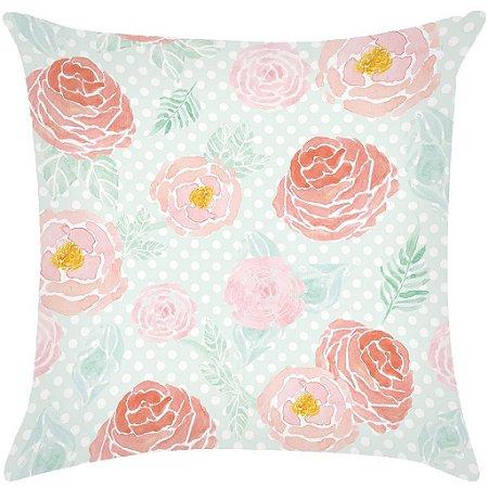 Digital Floral rosa e verde