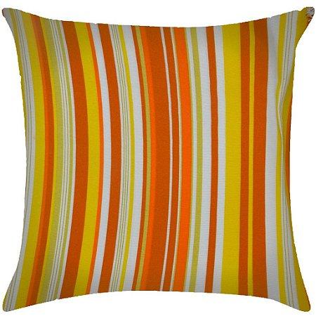 Almofada Listrada laranja e amarela