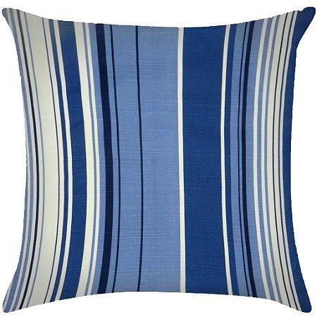 Almofada listrada tons de azul