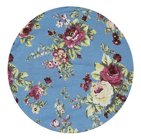 Souplat Floral Azul e Rosa