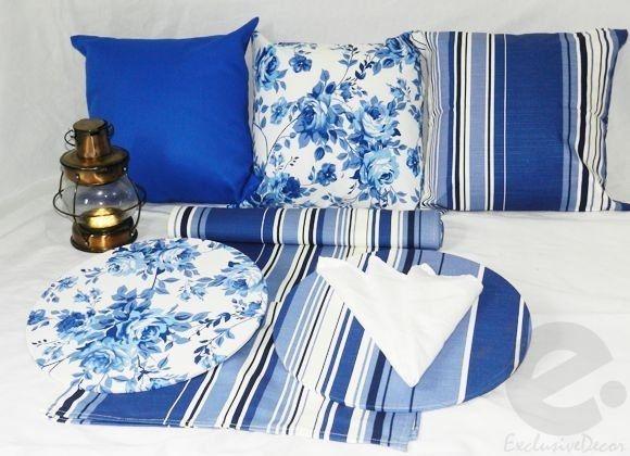 Conjunto Floral Azul