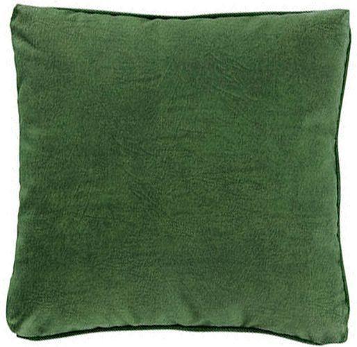 Almofadas verde escuro estonada