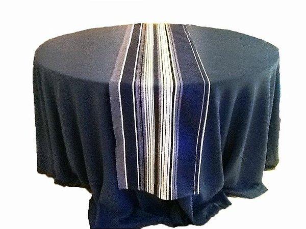 Caminho de mesa listrado azul
