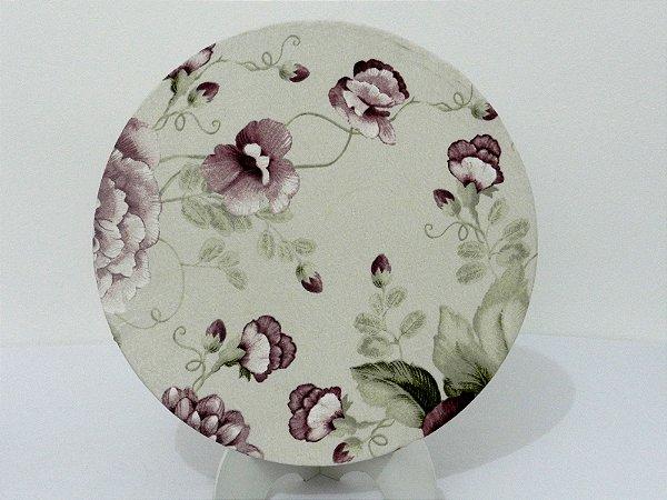 Souplat floral lilás e roxo