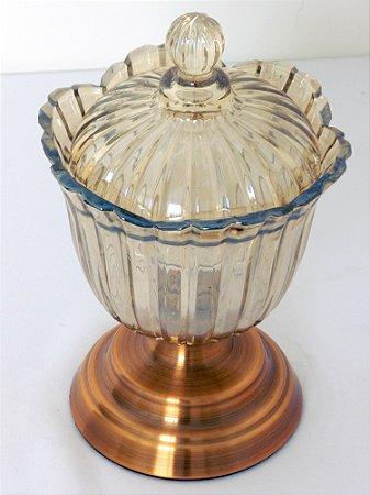 Bonbonier cristal dourado