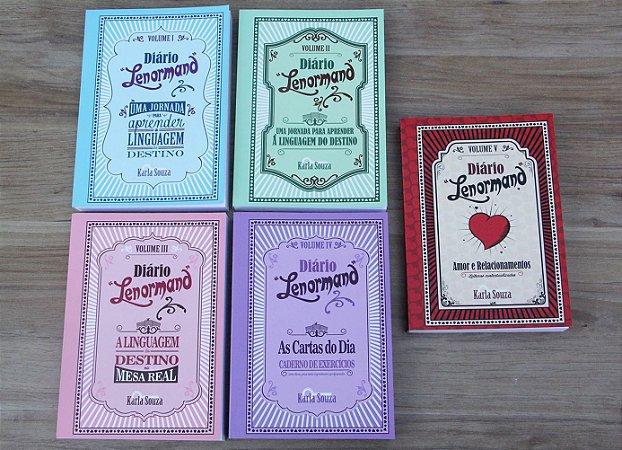 Pack com 5 volumes Diário Lenormand - livros lombada - de Karla Souza