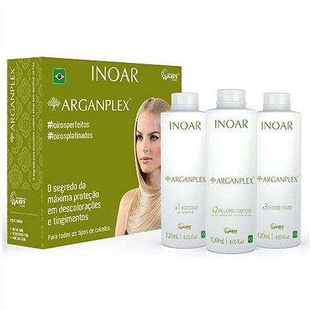 INOAR KIT ARGANPLEX ADIT+REC+H CARE 3x120ml