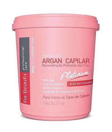 FOR BEAUTY ARGAN CAPILAR PLATINUM MAX ILLUMINATION 1Kg