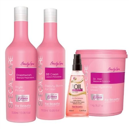 FOR BEAUTY KIT SPECIAL CARE SHAMPOO / LEAVE IN / DR HAIR 1kg / ÓLEO ESPECIAL CARE
