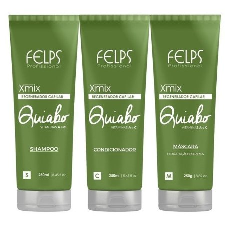 FELPS KIT QUIABO SHAMPOO 250ml / CONDICIONADOR 250ml / MÁSCARA 250g