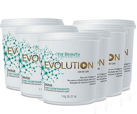 FOR BEAUTY EVOLUTION ANTI DESBOTAMENTO MASQUE 1 kg  6 UNIDADES